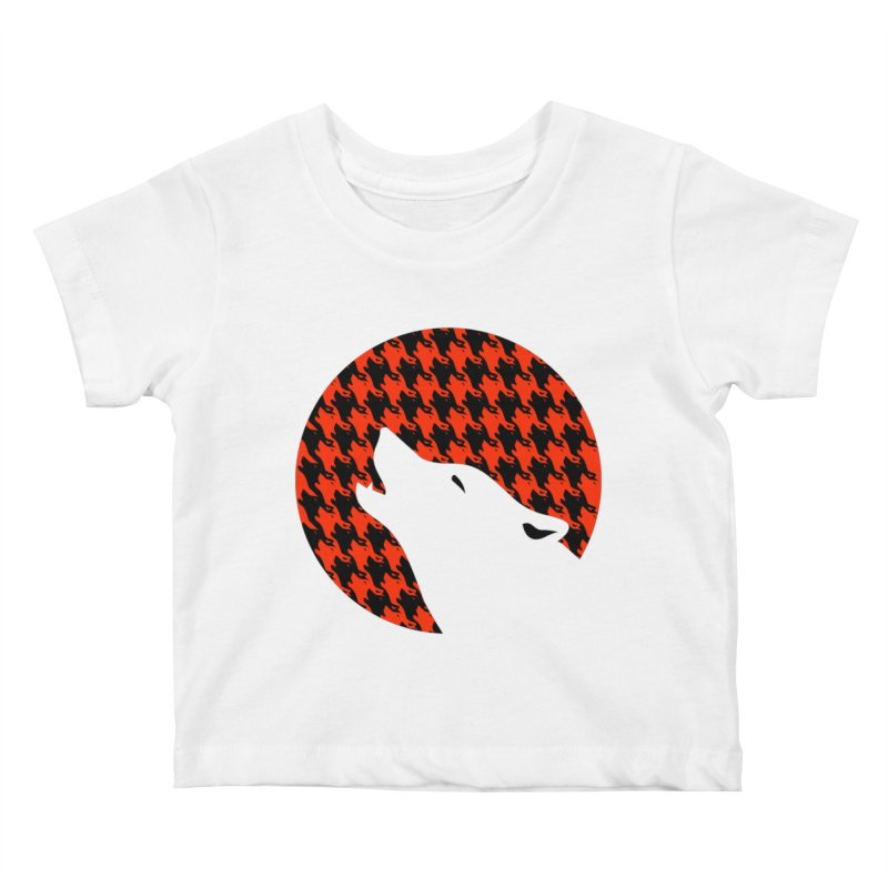 Howling Houndstooth Kids Baby T-Shirt by Yargyle's Artist Shop