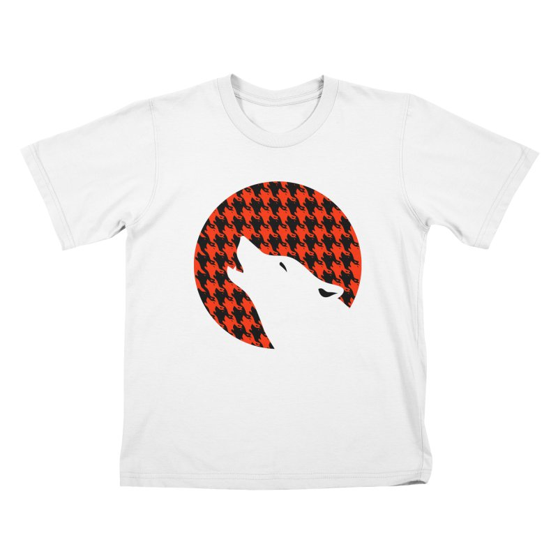 Howling Houndstooth Kids T-Shirt by Yargyle's Artist Shop