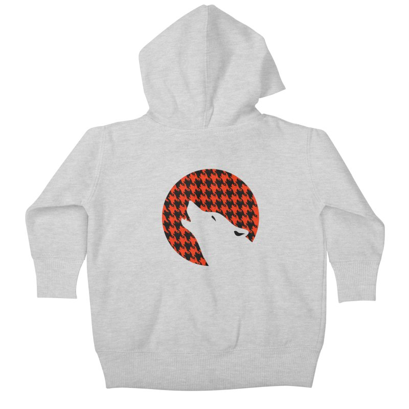 Howling Houndstooth Kids Baby Zip-Up Hoody by Yargyle's Artist Shop