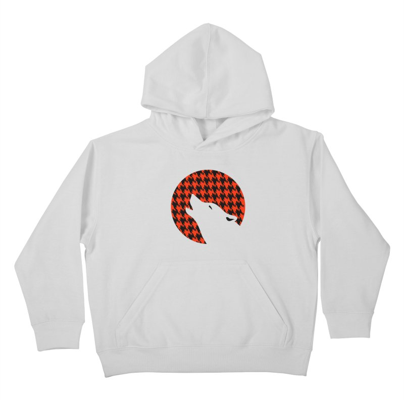 Howling Houndstooth Kids Pullover Hoody by Yargyle's Artist Shop