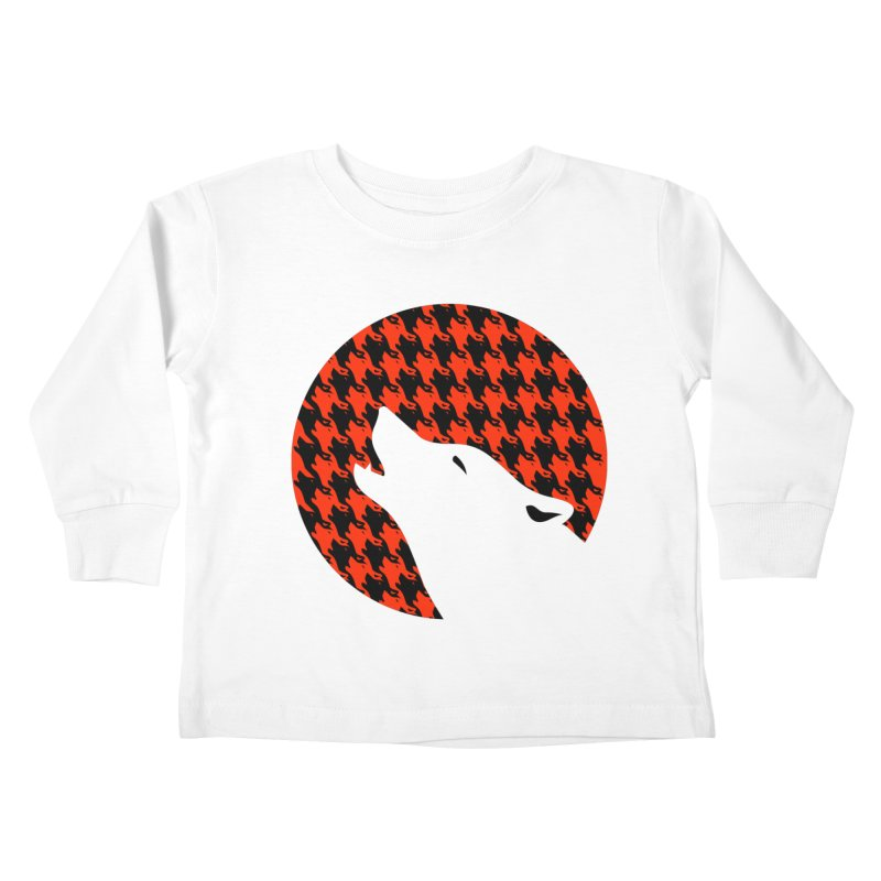 Howling Houndstooth Kids Toddler Longsleeve T-Shirt by Yargyle's Artist Shop
