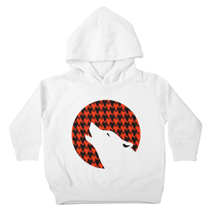 Howling Houndstooth Kids Toddler Pullover Hoody by Yargyle's Artist Shop
