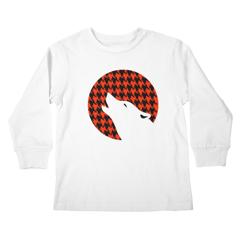 Howling Houndstooth Kids Longsleeve T-Shirt by Yargyle's Artist Shop