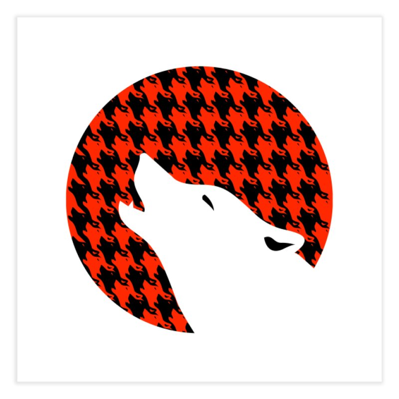 Howling Houndstooth Home Fine Art Print by Yargyle's Artist Shop