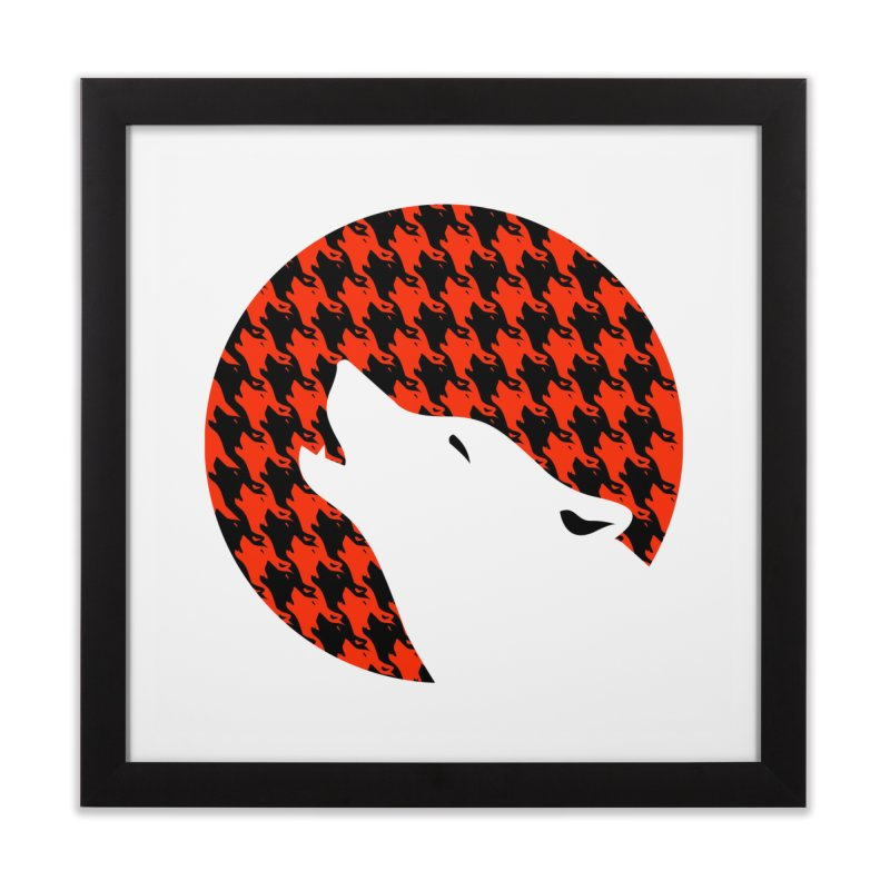 Howling Houndstooth Home Framed Fine Art Print by Yargyle's Artist Shop