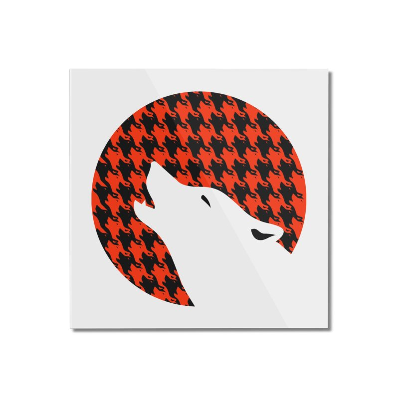 Howling Houndstooth Home Mounted Acrylic Print by Yargyle's Artist Shop