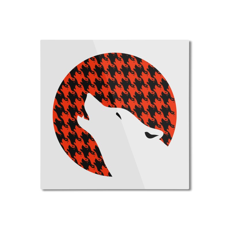 Howling Houndstooth Home Mounted Aluminum Print by Yargyle's Artist Shop