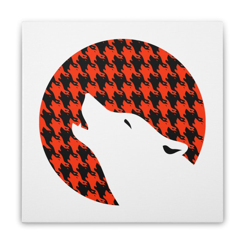 Howling Houndstooth Home Stretched Canvas by Yargyle's Artist Shop