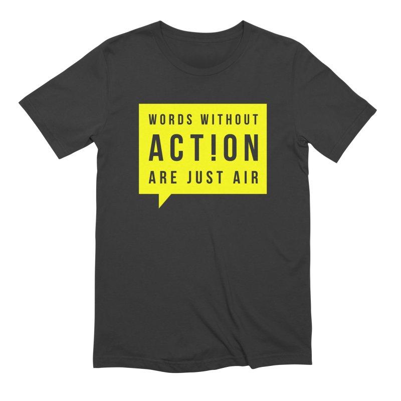 A C T ! O N Men's T-Shirt by Yargyle's Artist Shop