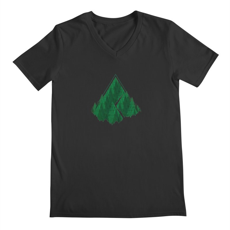 GeomeTree Men's V-Neck by Yargyle's Artist Shop