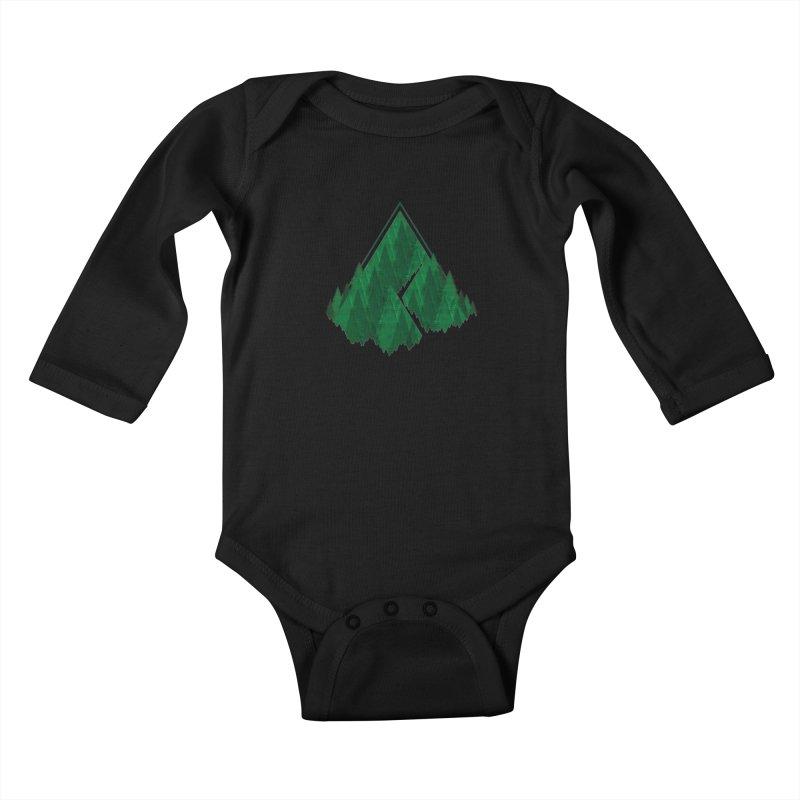 GeomeTree Kids Baby Longsleeve Bodysuit by Yargyle's Artist Shop