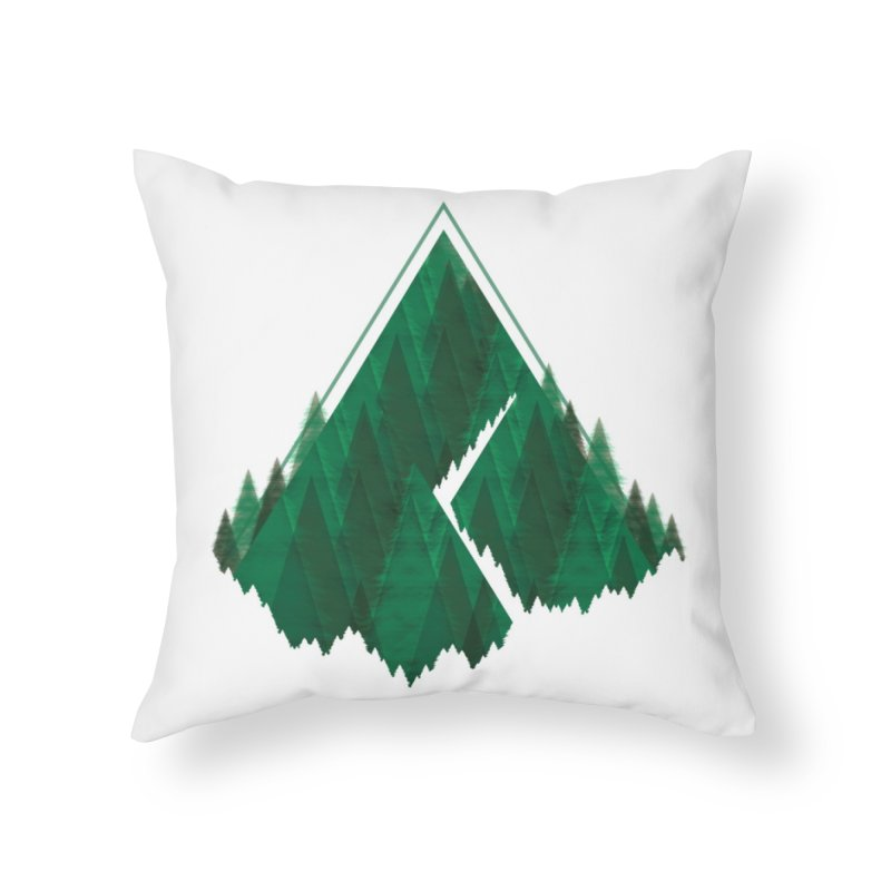 GeomeTree Home Throw Pillow by Yargyle's Artist Shop