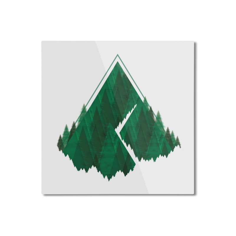 GeomeTree Home Mounted Aluminum Print by Yargyle's Artist Shop