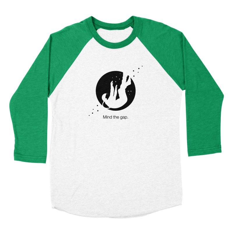 Mind the Gap Men's Baseball Triblend T-Shirt by Yargyle's Artist Shop