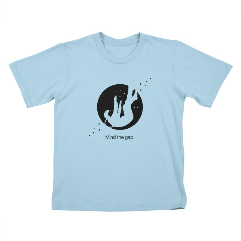 Mind the Gap Kids T-Shirt by Yargyle's Artist Shop