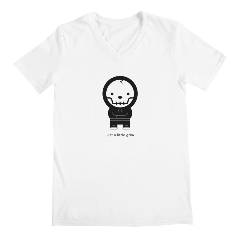 Little Grim Men's V-Neck by Yargyle's Artist Shop