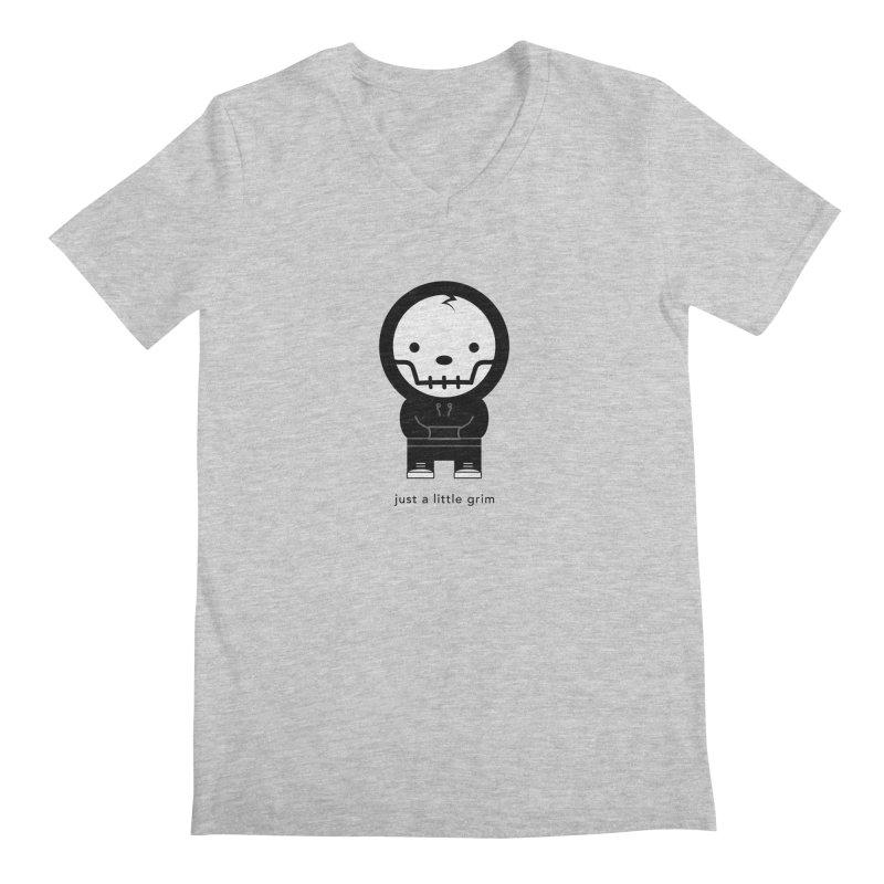 Little Grim Men's Regular V-Neck by Yargyle's Artist Shop