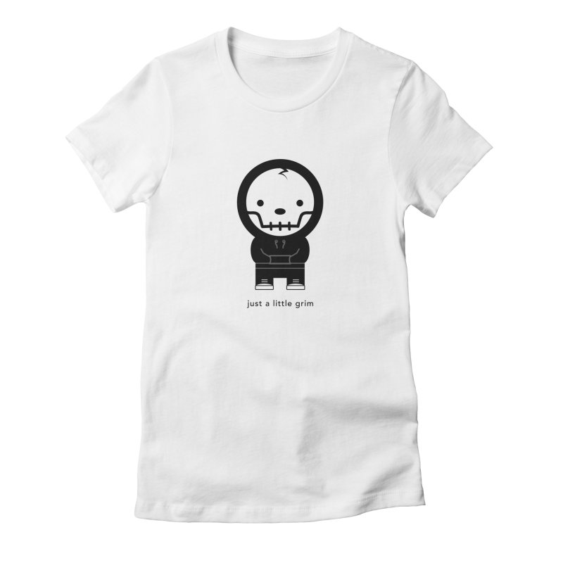 Little Grim Women's Fitted T-Shirt by Yargyle's Artist Shop