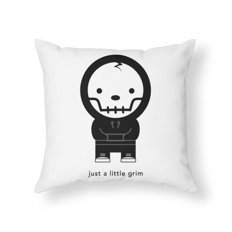 Little Grim Home Throw Pillow by Yargyle's Artist Shop