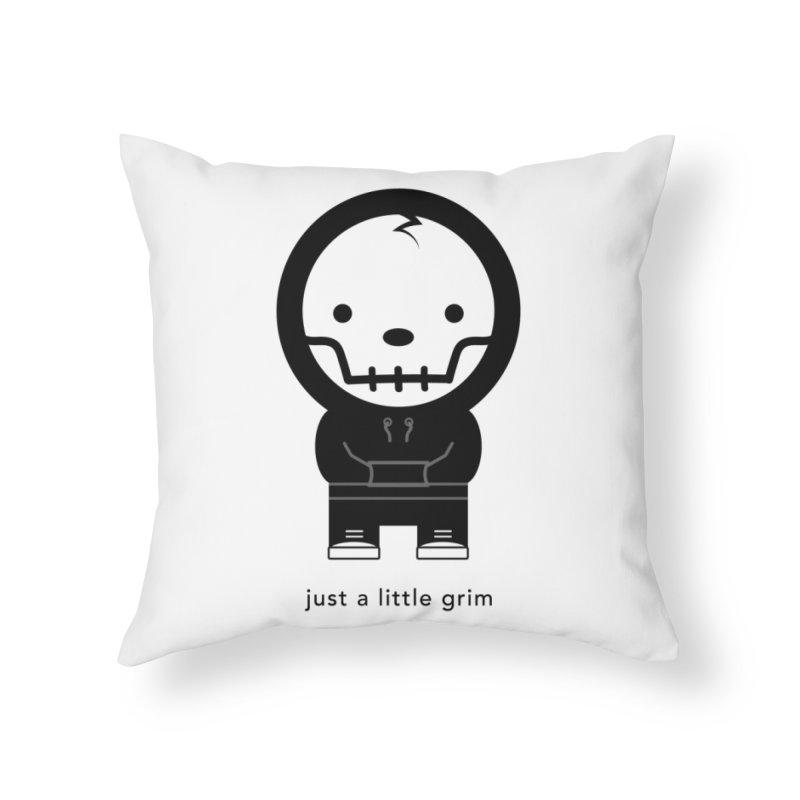 Little Grim Home Throw Pillow by Yargyle's Artist Shop
