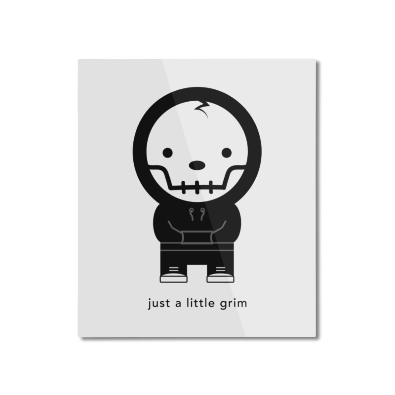 Little Grim Home Mounted Aluminum Print by Yargyle's Artist Shop
