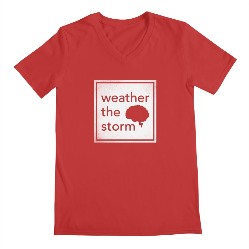 Weather the Storm Men's V-Neck by Yargyle's Artist Shop