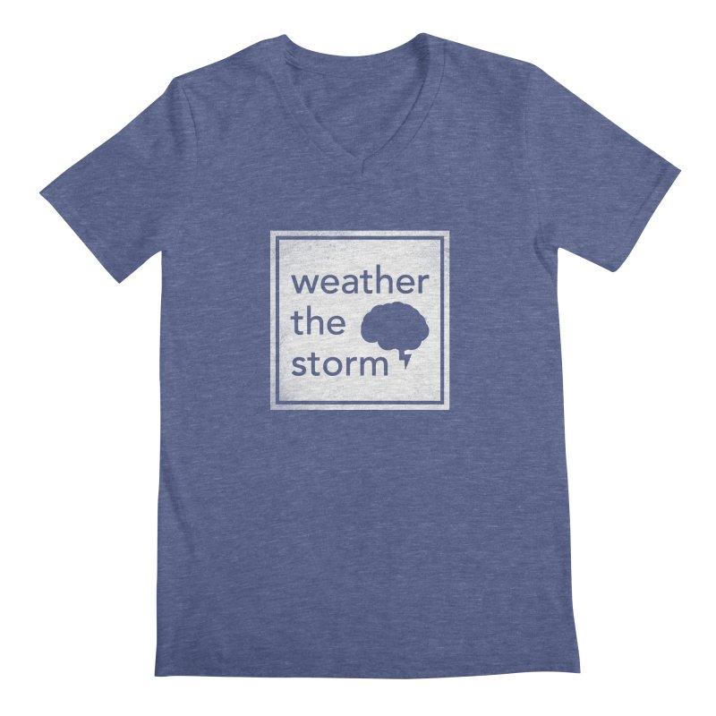 Weather the Storm Men's Regular V-Neck by Yargyle's Artist Shop