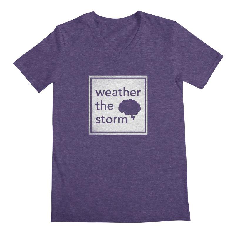 Weather the Storm Men's V-Neck by Yargyle's Artist Shop