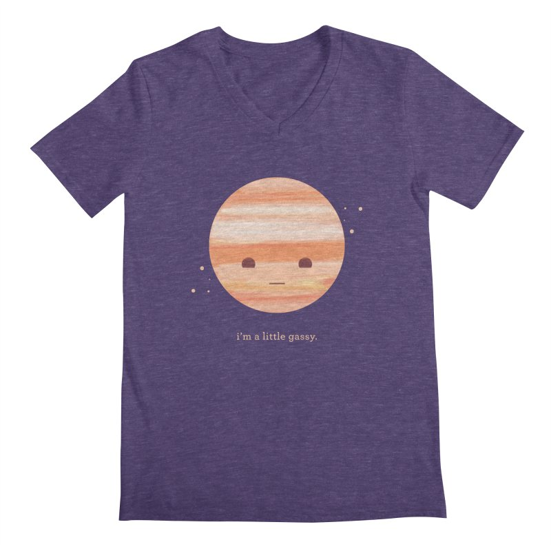 Little Gassy Men's V-Neck by Yargyle's Artist Shop