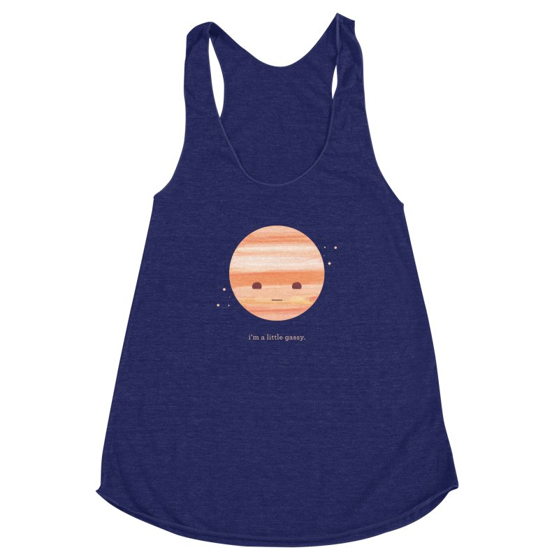 Little Gassy Women's Racerback Triblend Tank by Yargyle's Artist Shop