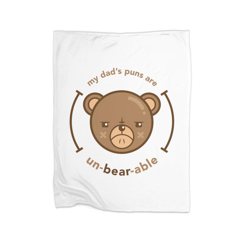 Un-Bear-Able Home Blanket by Yargyle's Artist Shop