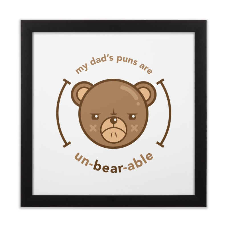 Un-Bear-Able Home Framed Fine Art Print by Yargyle's Artist Shop