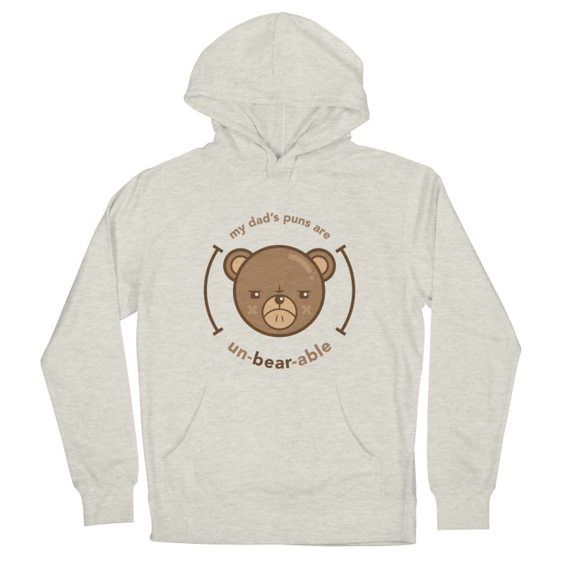 Un-Bear-Able Women's French Terry Pullover Hoody by Yargyle's Artist Shop