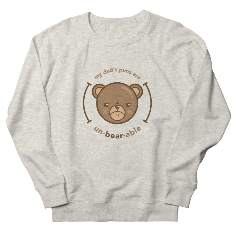 Un-Bear-Able Men's French Terry Sweatshirt by Yargyle's Artist Shop