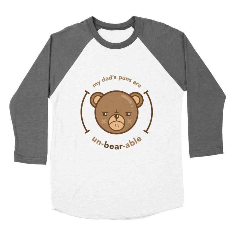 Un-Bear-Able Women's Baseball Triblend T-Shirt by Yargyle's Artist Shop