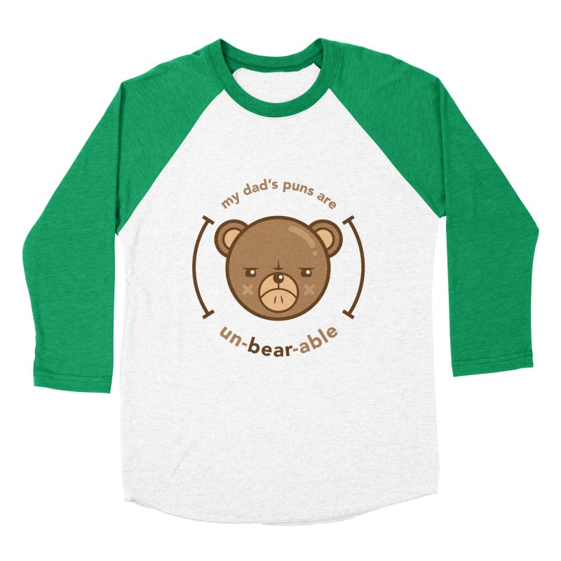 Un-Bear-Able Men's Baseball Triblend Longsleeve T-Shirt by Yargyle's Artist Shop