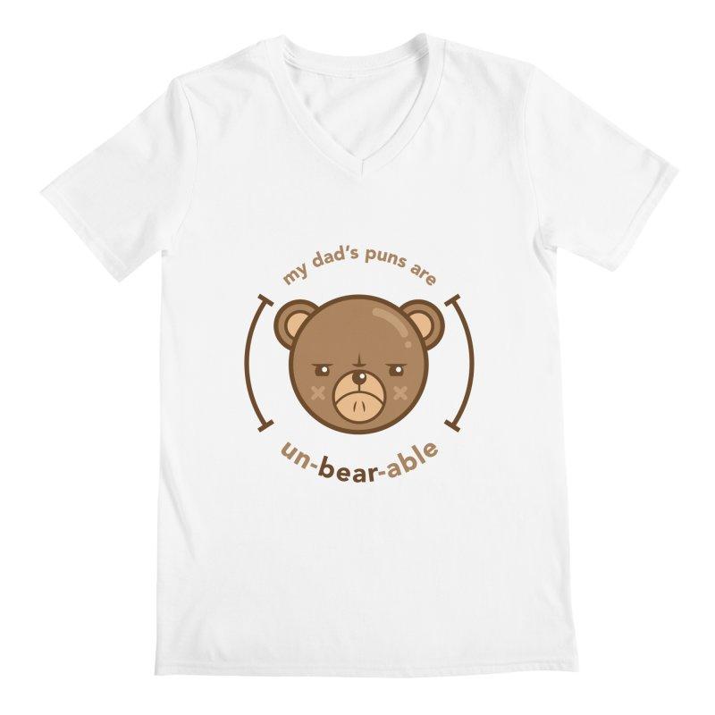 Un-Bear-Able Men's V-Neck by Yargyle's Artist Shop