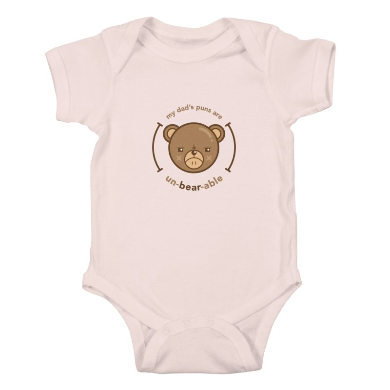 Un-Bear-Able Kids Baby Bodysuit by Yargyle's Artist Shop