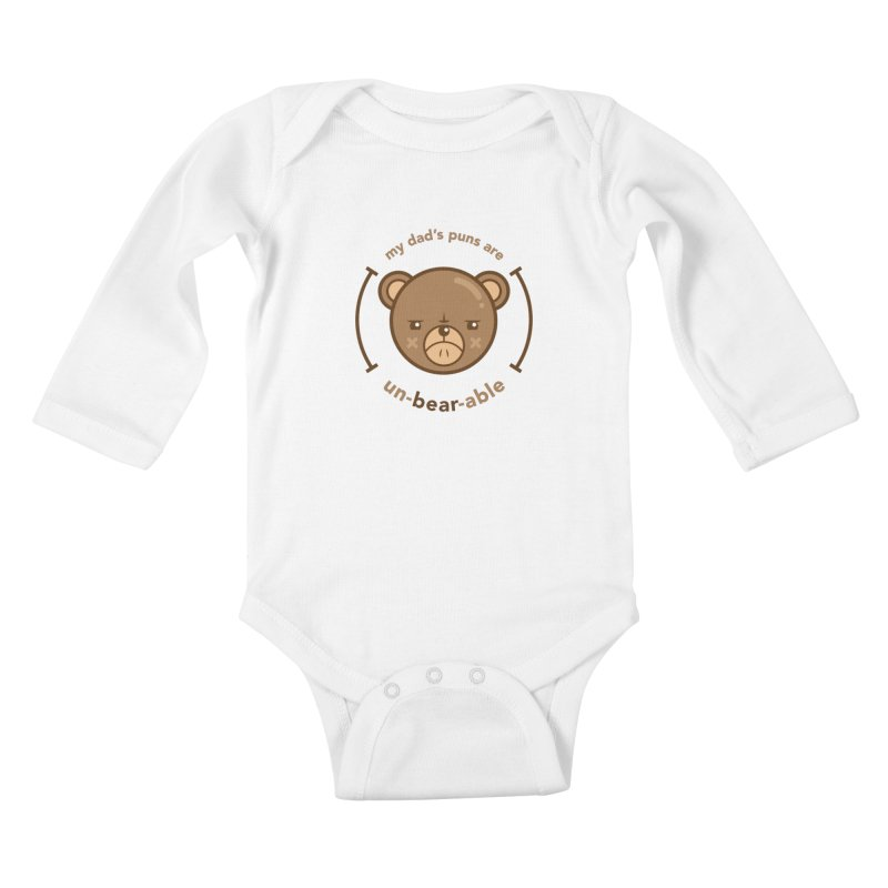 Un-Bear-Able Kids Baby Longsleeve Bodysuit by Yargyle's Artist Shop