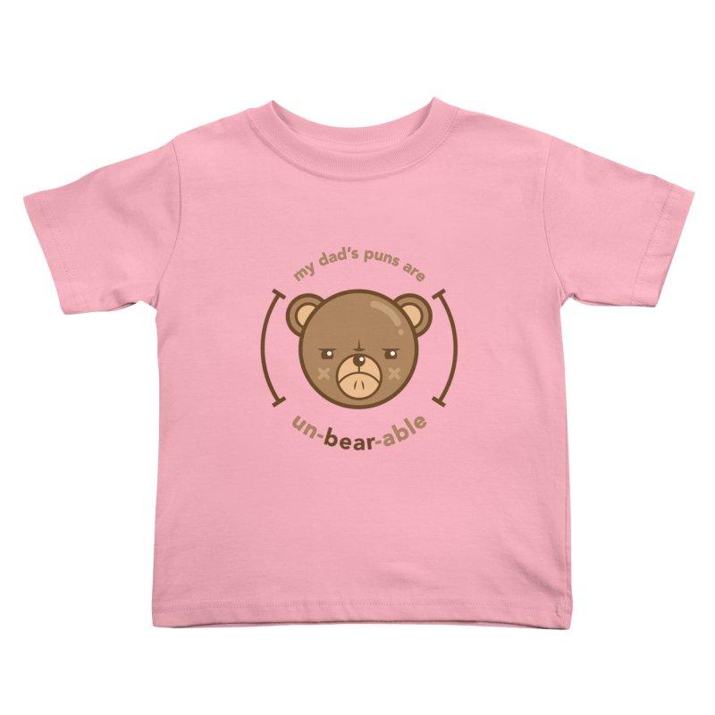 Un-Bear-Able Kids Toddler T-Shirt by Yargyle's Artist Shop