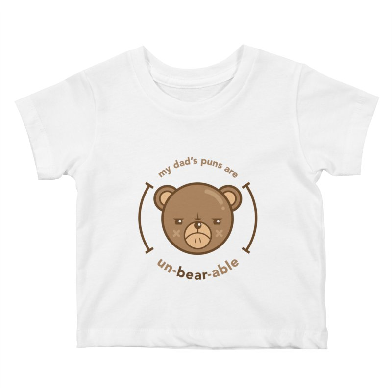 Un-Bear-Able Kids Baby T-Shirt by Yargyle's Artist Shop