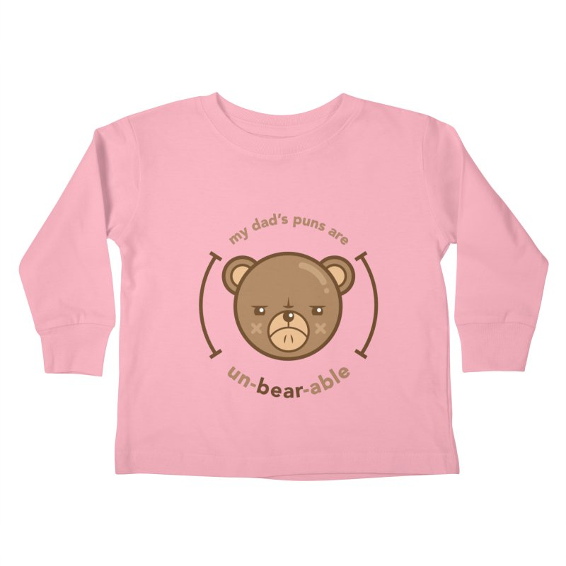 Un-Bear-Able Kids Toddler Longsleeve T-Shirt by Yargyle's Artist Shop