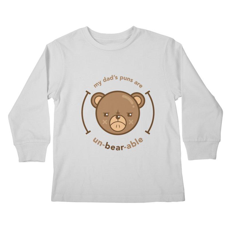 Un-Bear-Able Kids Longsleeve T-Shirt by Yargyle's Artist Shop