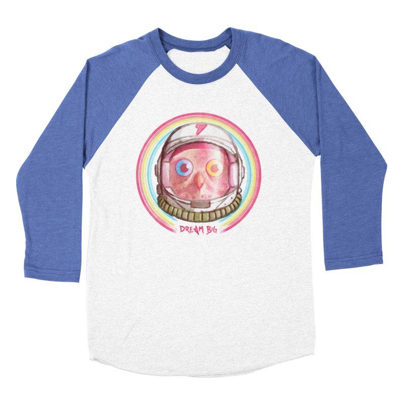 Dream Big Women's Baseball Triblend Longsleeve T-Shirt by Yargyle's Artist Shop