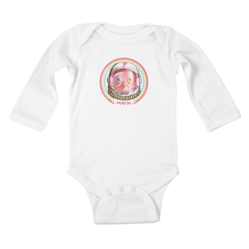Dream Big Kids Baby Longsleeve Bodysuit by Yargyle's Artist Shop