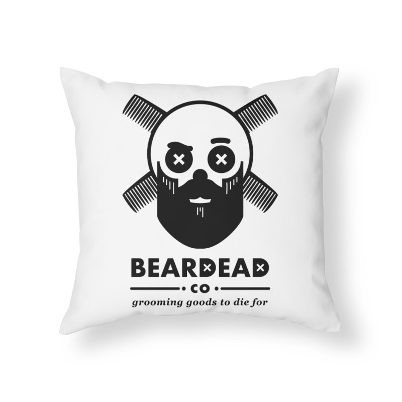 Beardead Home Throw Pillow by Yargyle's Artist Shop