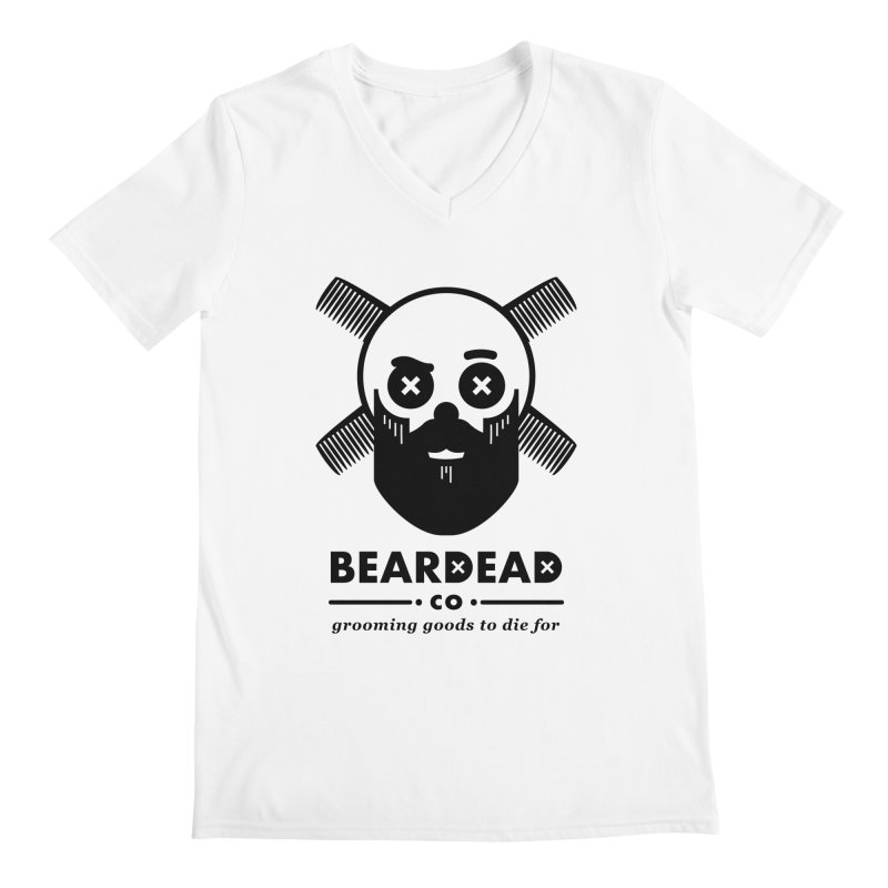 Beardead Men's V-Neck by Yargyle's Artist Shop