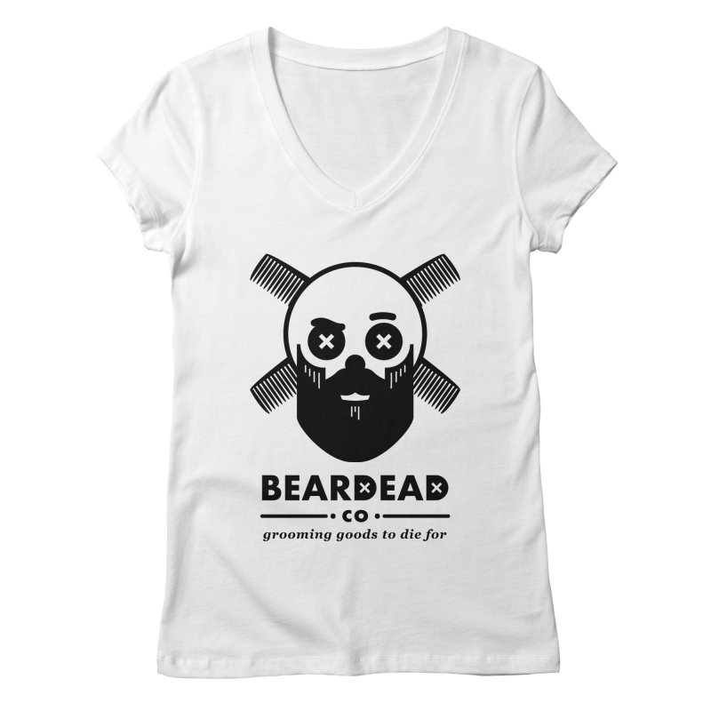 Beardead Women's V-Neck by Yargyle's Artist Shop