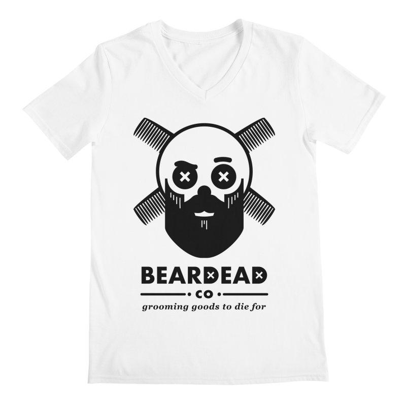Beardead Men's Regular V-Neck by Yargyle's Artist Shop