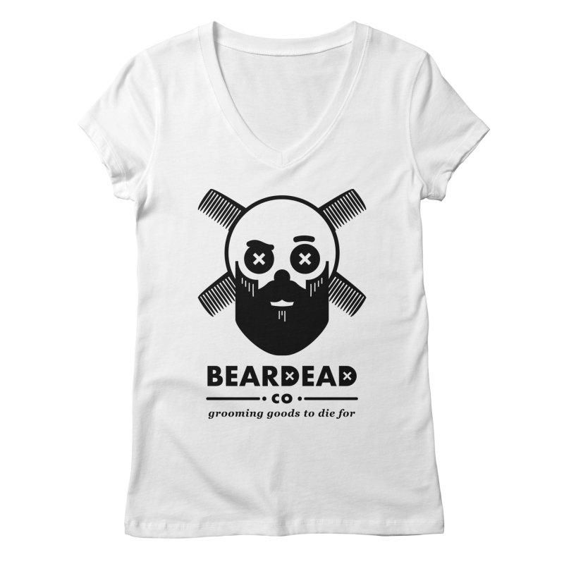 Beardead Women's Regular V-Neck by Yargyle's Artist Shop